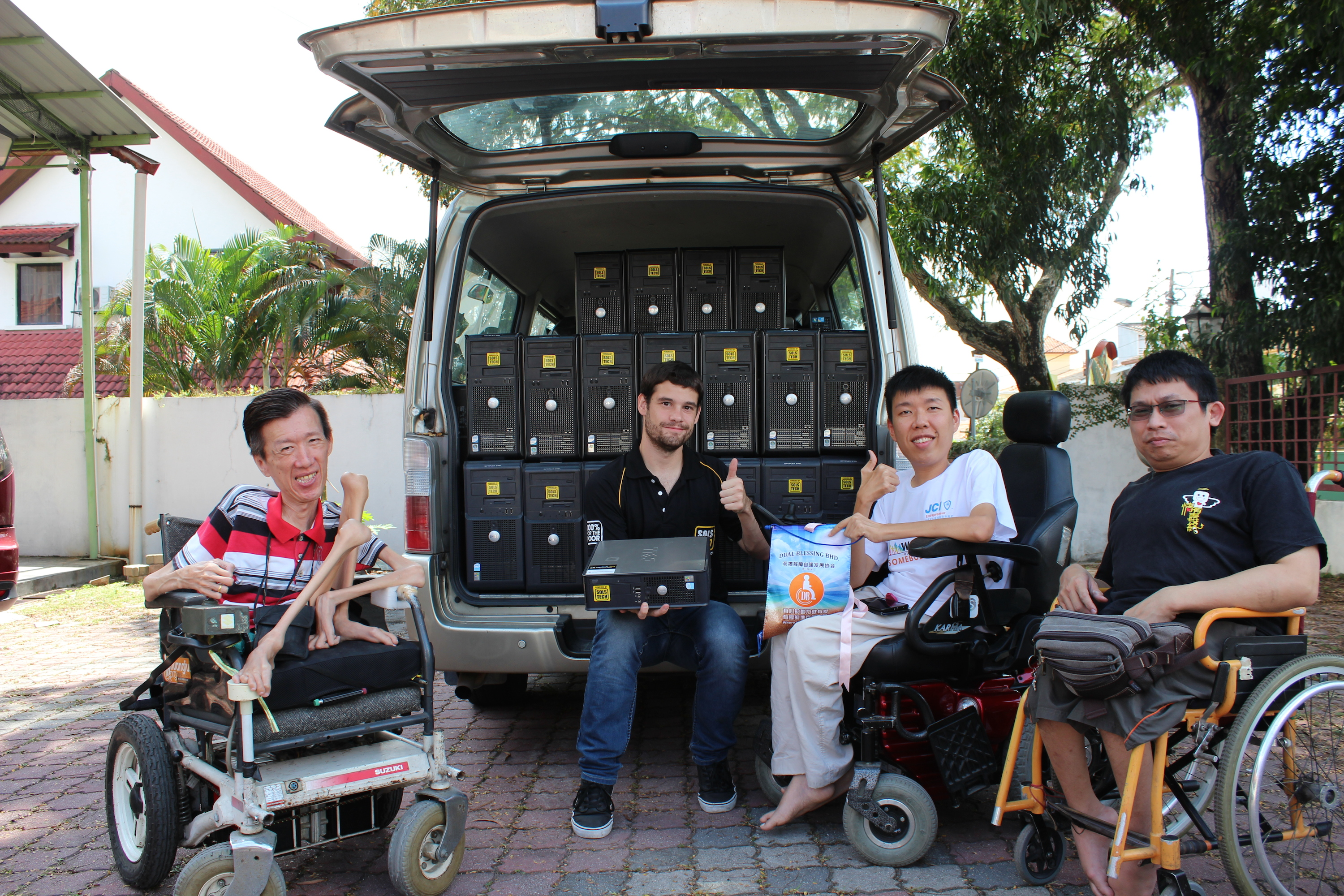 SOLS Tech donates hundreds of computers each year to underserved communities like non-profit organisation Dual Blessing Bhd which provides help, care and support for disabled people.