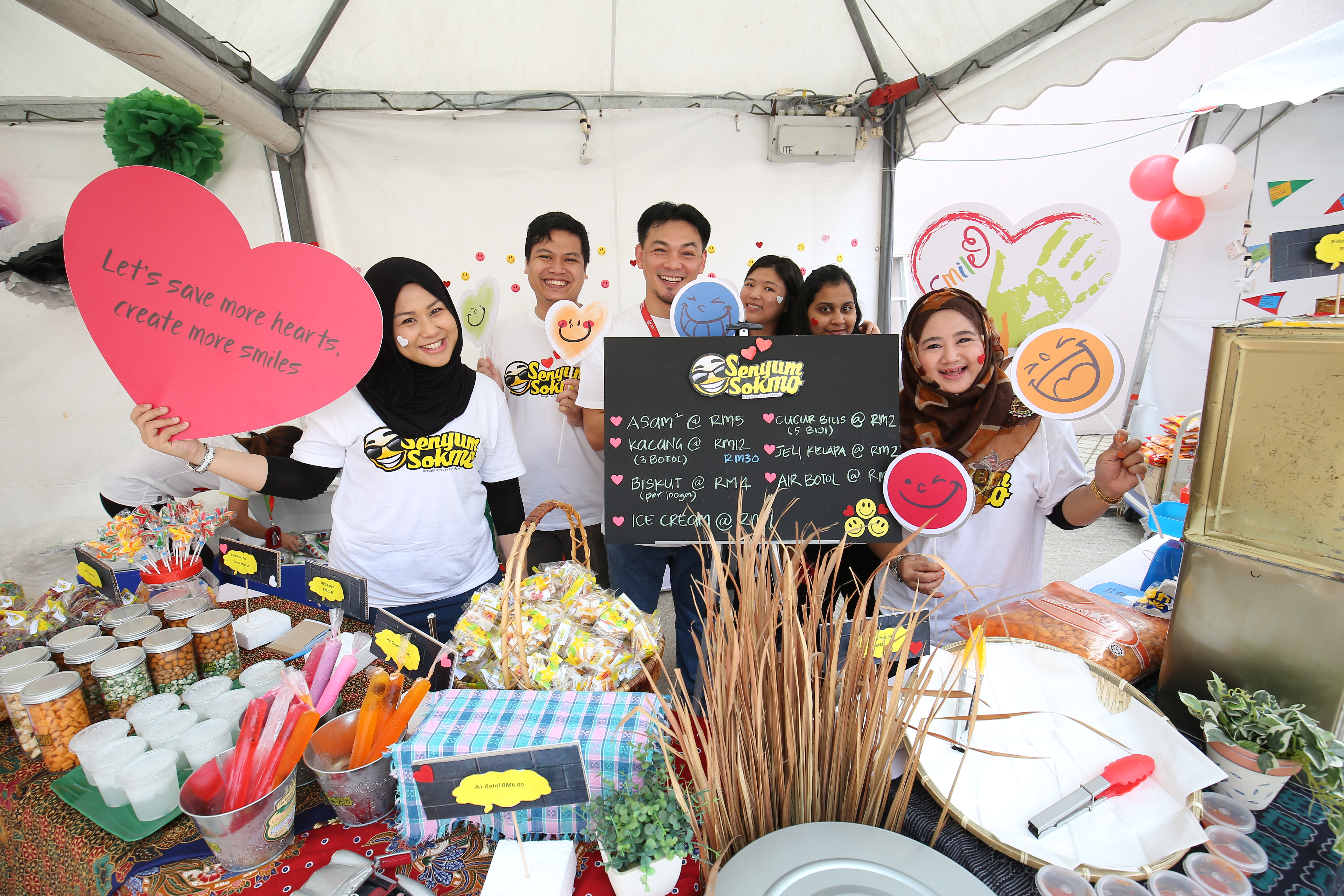 One of the booths during the AIA Touching Lives Charity Bazaar set up by AIA employees