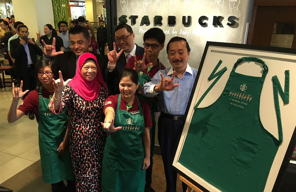 Starbucks Malaysia Dedicates New Store to Employing Deaf Employees