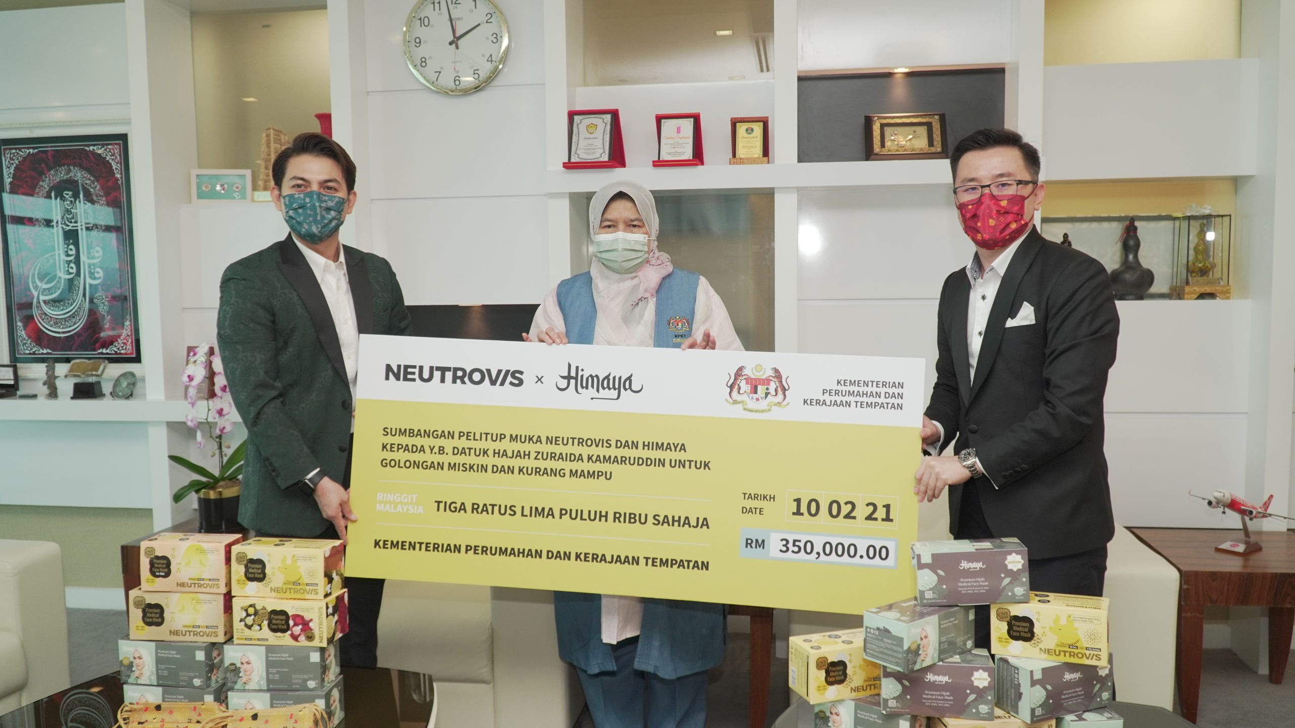 This initiative by Neutrovis and Himaya was launched in spirit of the Chinese New Year celebration, keeping frontliners and the B40 in mind, to lessen the burden